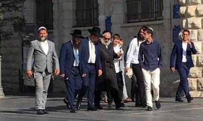 Men Walking to Old City
