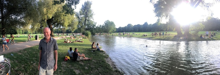 Munich's English Park on Sunday
