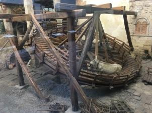 Oxen Turning Wheel