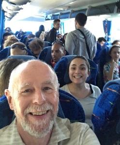 Photo Bombed on Bus to Jerusalem