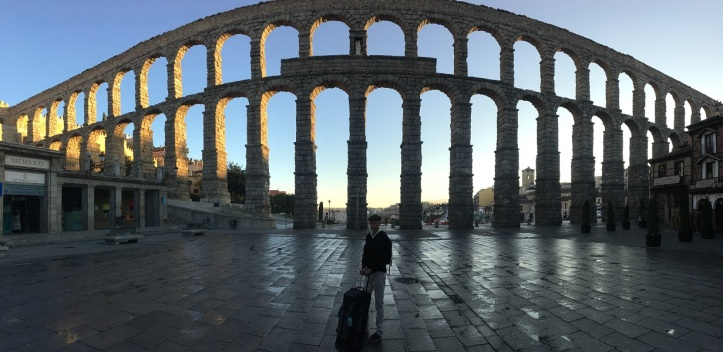 Segovia Aqueduct in the morning