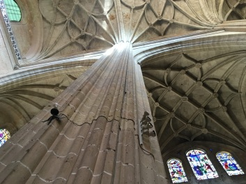Segovia Cathedral Pillar and Arches