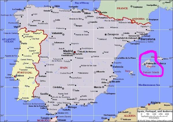 Spain-Mallorca Map
