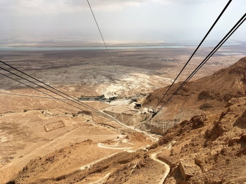 Tram Cables Down from Masada