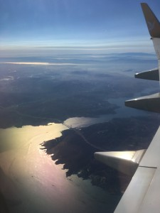 View of Bosphorus Strait from Our Flight