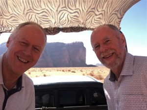 Wadi Rum - Brian & Frank in Back of Pickup
