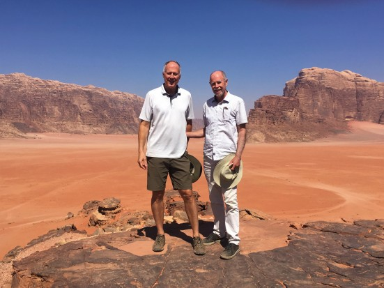 Wadi Rum - Brian & Frank on Hilltop 3