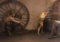 Wheel Driven Lathe