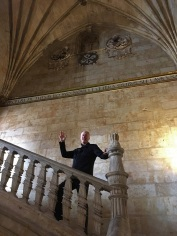 Brian in St Stephen Domincan Cloister Stairway