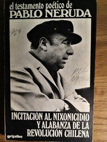 Pablo Neruda Autographed Book of Poems