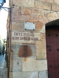 Salamanca University - Secretaria General