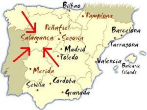 Salamanca-Segovia Map